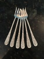 Sterling Silver Seafood Cocktail Forks Stieff Rose