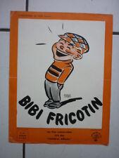 PIERRE LACROIX  BIBI FRICOTIN  / DOSSIER DE PRESSE DU FILM  /  24 X 31 CM