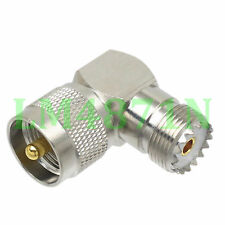 1pce Adapter 90° UHF plug male PL259 to SO239 female connector right angle M/F