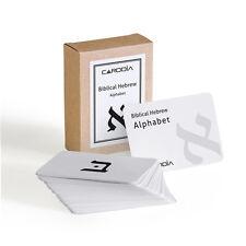 Biblical Hebrew Alphabet flash cards | CARDDIA