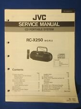 JVC RC-X250 CD Portable Service Manual Factory Original The Real Thing