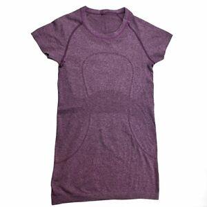 Lululemon Swiftly Tech Short Sleeve Crew Size 4 Heathered Purple