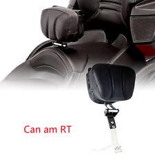 Black Adjustable Driver Backrest Smart Mount Back Rest For Can Am RT Spyder SE6