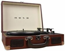 Bush Classic Retro Suitcase Turntable - Brown