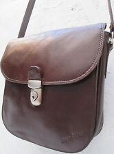 -AUTHENTIQUE    sacoche  SERGE AGOSTINI cuir  TBEG   bag vintage