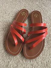 1a550d83d Brand New Tory Burch Women s Patos Flat Sandals Samba Red (Size 7.5)  195