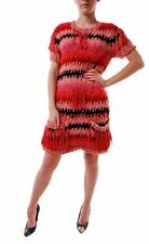 For Love & Lemons Women's Crosby Fringe Sweater Dress Red BCF68