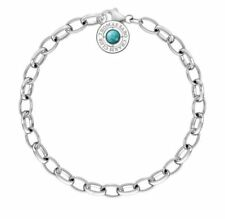 Thomas Sabo CX0229L Charm Bracelet Turquoise Silver Size L 19.5CM RRP$89