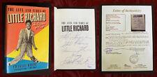 LITTLE RICHARD SIGNED, JSA CERT, Autographed Memoir Life and Times, event flyer!