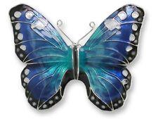 Zarah Blue Morpho Butterfly Pin Sterling Silver-Plated Enamel Zarlite Insect