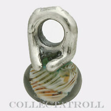 Authentic Trollbeads Silver Glass Autumn Bead TAGBE-00008 61720  RETIRED