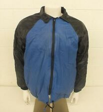 Vintage Lafayette Leather Fully Lined Blue & Black Jacket Size 38-40 LOOK