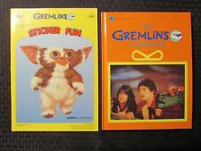 1984 GREMLINS Sticker Fun VF & Storybook HC FVF Golden Books LOT of 2