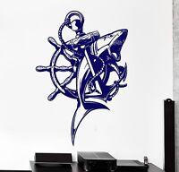 Wall Vinyl Decal Anchor Ocean Shark Ship Yacht Cool Decor For Bedroom z3864