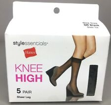 99bdd6991 Hanes Knee High Sheer Leg Sheer Toe 5 Pair (One size