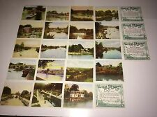 HILLS VIEWS OF THE RIVER THAMES (GREEN & BLK BACKS) 20 VERY GOOD CARDS