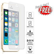 GENUINE TEMPERED GLASS SCREEN PROTECTOR PROTECTION FOR APPLE iPhone 5 6 7 8 Plus