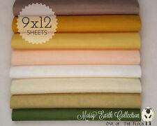 "MOSSY EARTH Felt FabricCollection, Merino Wool Blend Felt, EIGHT 9"" X 12"" Sheets"