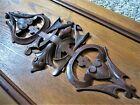 Carved Walnut? Fireplace Mantle Panel Ornate Wood Pediment Victorian Plaque Door