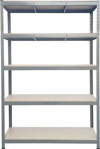 5 Tier Racking Shelf Heavy Duty Garage Shelving Storage Shelves Unit 180x120x60