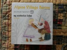 Dept 56 Alpine Village Accessory My Octoberfest Debut Nib (B)