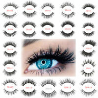 3D 100% Mink Eyelashes Natural Thick False Soft Eye Lashes Makeup Extension Long