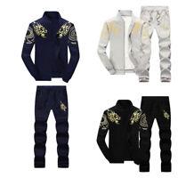 Men's Tracksuit Outwear Hip Hop Hoody Coat Sweat Suits Jacket + Sweatpants Sets