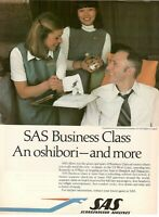 1979 Original Advertising' American SAS Scandinavian Airlines System Business CL