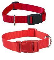 RED DOG COLLAR BULK LOT PACKS 4 Sizes Nylon Litter Band Puppy Rescue Shelter