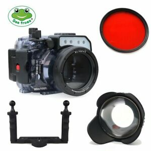 Seafrogs 60M Underwater Camera Housing For Sony RX100 I-V w/ Dome Port & Tray