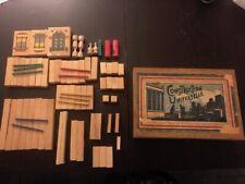"""Vintage jeu de construction en bois """"Construction Universelle"""""""