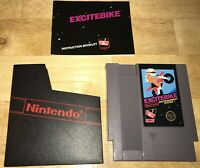 EXCITEBIKE Nintendo NES 5-Screw Game CART Working! Original MANUAL, Sleeve! 1985