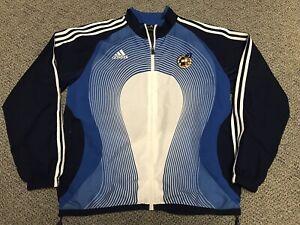 2006 2008 Spain Adidas Jacket Warm Up Training Blue White M Medium World Cup
