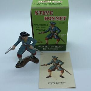 1960s Marx Warriors Of The World Steve Bonnet Pirate Box And Card