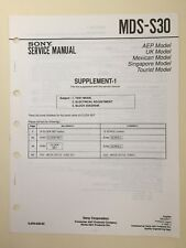 Sony MDS-S30 Service Manual Supplements Number 1 & 2 (original)