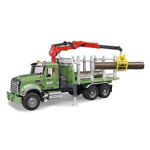 Bruder MACK Granite Timber Truck with Loading Crane 3 Trunks 02824