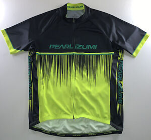 Men's Pearl Izumi Logo Bicycle Bike Jersey Bright Volt Black Size XX Large Rare