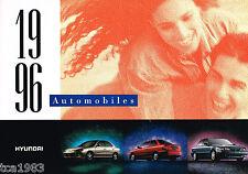 1996 HYUNDAI EXCEL / SONATA / ELANTRA Sales Brochure / Catalog: GL,GLS,'96