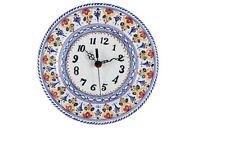 """Liso"" Clock Plate 11"" Diameter Spain, ceramic, pottery"