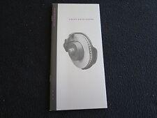 1992 Mercedes Benz DATA Brochure 300SL 500SL 400E 500E 400SE 500 E 600SEL SL SEL