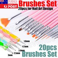 20pcs DIY Nail Art Painting Drawing Design Brushes Dotting Pen Tool Pen AUS