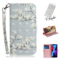 3D Painted Magnolia Fashion Women Girl Hot Wallet Case Cover For Various Phones