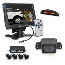 """Telecamera posteriore Camper e Monitor Retromarcia 7"""" Sensori di Parcheggio da 4"""