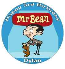 """Mr Bean Personalised Cake Topper 7.5"""" Edible Wafer Paper Birthdays Parties"""