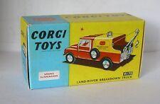 Repro box CORGI Nº 417s Land rover Breakdown Camion
