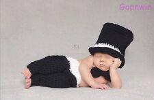 Neugeborene Baby Knit Strick Fotoshooting Kostüm Gentleman Mütze Höschen