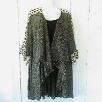 New Umgee Kimono XL XXL Floral Leopard Animal Bell Sleeve Boho Peasant Plus Size
