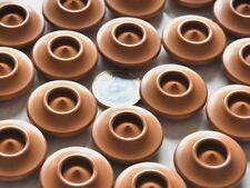 """lot de 5 gros boutons ronds originaux """" toupie marron """"  26mm mercerie button"""