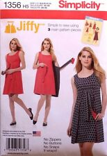 REVERSIBLE WRAP DRESS Jiffy 3-Piece Simplicity Pattern 1356 NEW Size Misses 6-14