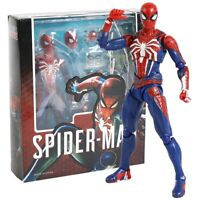 SHF Spiderman PS4 Advanced Suit PVC Action Figure Collectible Model Toy
